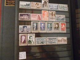 FRANCE ANNEE COMPLETE 1952 (YT 919/939)** - 1950-1959