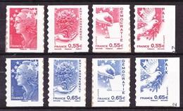 4197 / 4200 + 4201 / 4204 - Les 2 Séries Marianne Et L'Europe - Neufs N** - Très Beaux. - Francia