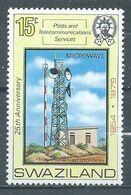 Swaziland YT N°328 Antenne D'hyperfréquence Sur Le Mont Ntondozi Neuf ** - Swaziland (1968-...)