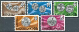 Swaziland YT N°322/326 Monnaies Neuf ** - Swaziland (1968-...)