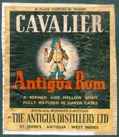 ANTIGUA -  CAVALIER ANTIGUA RUM   LABEL - ANTIGUA AND BARBUDA DISTILLERY  St JOHN's - Rhum
