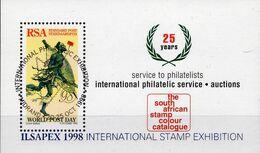 ILSAPEX 1998 Expo Mails Postläufer Südafrika Block 58 O 3€ Farbkatalog Hoja Bloc Philatelics Sheet South Africa RSA - Sud Africa (1961-...)