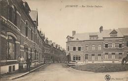 D59 - JEUMONT - RUE NICOLAS DUFOSSEZ - Couple Avec Un Enfant - Chien - Cheval - Jeumont