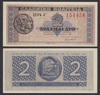 Griechenland - Greece Königreich 2 Drachmai 1941 Pick 318 UNC (1)   27056 - Grecia