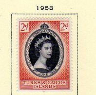 Turks Et Caiques (1953) - Couronnement Elisabeth II - Neuf* - Turks And Caicos
