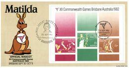 (O 2) Australia FDC Maxicard -  NSW SPC 006 - 1982 - Matilda (Commonwealth Games) - Cartas Máxima