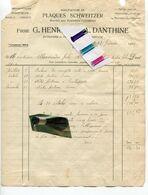 LIEGE / PLAQUES SCHWEITZER / PLAFONNEUR / CIMENTAGE / RUE JARDIN BOTANIQUE / HENRION ET DANTHINE / RUE DE JOIE - 1900 – 1949
