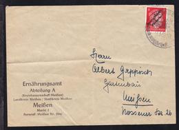 """Meissen Hitler 8 Pfg. Mit Aufdruck """"Deutschlands Verderber"""" Auf Brief Des  - Soviet Zone"""