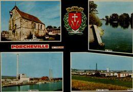 78-PORCHEVILLE...4 VUES.....CPM - Porcheville