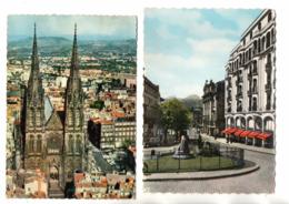 """63 - CLERMOND-FERRAND . """" BOULEVARD DESSAIX """" & """" VUE AÉRIENNE DE LA CATHÉDRALE """" . 2 CPM - Réf. N°26164 - - Clermont Ferrand"""