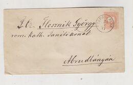 HUNGARY ROMANIA 1877 TOPANFALVA CAMPENI Postal Stationery Cover - Cartas