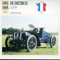 France 1903-1905 - De Dietrich 24/28 HP - Voitures