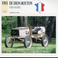 France 1903 - De Dion Bouton Paris-Madrid - Voitures