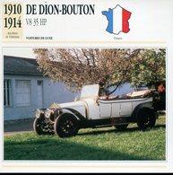 France 1910-1914 - De Dion Bouton V8 35 HP - Voitures