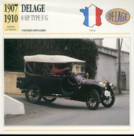 France 1907-1910 - Delage 8 HP Type F/G - Cars