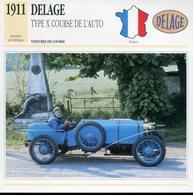 France 1911 - Delage Type X Course De L'Auto - Voitures