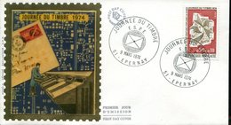 FDC Journée Du Timbre F.S.P.F. - Epernay (51) 9 Mars 1974 - 1970-1979