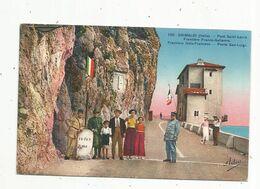 Cp, Douane , Italie , GRIMALDI , Italia ,pont SAINT LOUIS , Frontière Franco-Italienne , Frontiera Italo-Francesse - Dogana