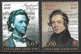 2010 Vatikan Mi. 1677-8**MNH  Chopin E Schumann - Ungebraucht