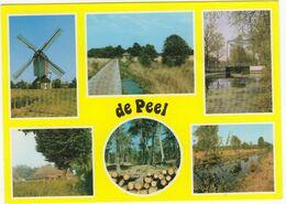 'De Peel' : Windmolen 'De Oostenwind', Natuur, Brug, Boerderij (Uitg. Recreatie-oord De Peel, Milheeze) - Gemert