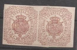 1891 INGRESOS CT FORBIN 7** PUERTO RICO RECIBOS MNH - Puerto Rico