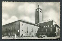 Enschede - Oud Stadhuis Langestraat - Centrum. ( 1955 ). -  Used , 8 Scans For Condition. (Originalscan !! ) - Enschede