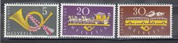 Switzerland 1949 - 100 Years Swiss Post, Mi-Nr. 519/21, MNH** - Nuevos