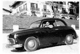 -  Photo Ancienne - Automobile PEUGEOT ?  Devant L' Hotel; Café Restaurant L' Es...tte  Vue ? - Automobiles