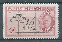 Turks & Caïcos YT N°153 Carte Des Iles Neuf ** - Turks And Caicos