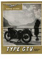 Dépliant Publicitaire En 2 Volets Pour Moto Guzzi Type GTV 500 - Motorfietsen