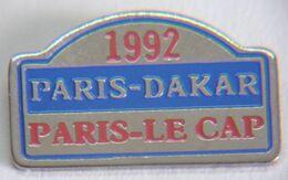 VT144 Bis Pin's Rallye Paris Le Cap Dakar 1992 Arthus Bertrand Signé AB  Qualité Eaf  Achat Immédiat - Rallye
