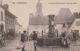 29 CHATEAUNEUF-DU-FAOU La Fontaine Monumentale, Place Des Halles - Animée - Châteauneuf-du-Faou