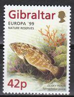 Tr_ Gibraltar 1999 - Mi.Nr. 854 - Postfrisch MNH - Tiere Animals Fische Fishes - Fische
