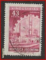 ARGENTINA 1965/68 Proceres Y Riquezas Nacioales II 2ra Parte, Factory And CogwheelGJ 1314  Ø - Usati