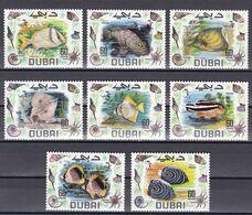 Tr_ Dubai 1969 - Mi.Nr. 345 - 352 - Postfrisch MNH - Tiere Animals Fische Fishes - Fishes