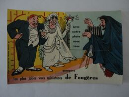 AVEC NOTRE PHOTO NOUS VOUS ENVOYONS LES PLUS JOLIES MINIATURES DE FOUGERES CARTE A SYSTEME 10 VUES - Fougeres