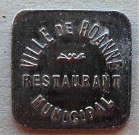 Monnaie De Nécessité - 42 - LOIRE - Roanne - Ville De Roanne. Restaurant Municipal - Vins - - Monetary / Of Necessity