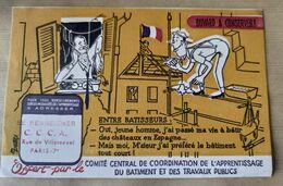Buvard C.C.de Coordination De L'Apprentissage Du Bâtiment & Des Travaux Publics. - Blotters
