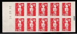France Carnet 2720 C2 Marianne De Briat  Daté - Markenheftchen