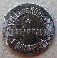 Monnaie De Nécessité - 42 - LOIRE - Roanne - Ville De Roanne. Restaurant Municipal - Viande - - Monetary / Of Necessity