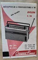 Buvard Transistor RADIO AIGLON C 33, Neuf. - Blotters