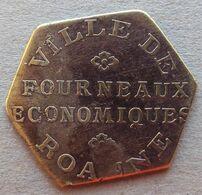 Monnaie De Nécessité - LOIRE 42 - Roanne - Ville De Roanne - Fourneaux économiques - 10c - Monetary / Of Necessity