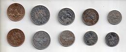 REF MON6 Monnaie Coin Lot De 10 Pièces Nouvelle Calédonie - Nuova Caledonia
