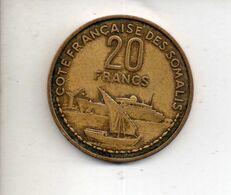REF MON6 Monnaie Coin Cotes Françaises Des Somalis Somalie 20 Francs 1952 - Somalia
