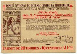 8) France 1936 Carnet Complet - Antituberculeux