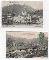 88 - LA BRESSE - LOT DE 2 CPA - LES ALENTOURS DE L'ÉGLISE -  L'USINE DU DAVAL - 1914  - BON ÉTAT - Senones