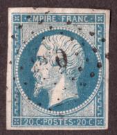 Napoléon III N° 14A Bleu Verdâtre - Oblitération Losange PC - 1853-1860 Napoléon III.