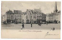 "Ath - Grand' Place ""Côté Gauche"" - Circulé - 2 Scans - Ath"