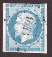 Napoléon III N° 14A Bleu Clair - Oblitération PC 1443 Graulhet (Tarn) - 1853-1860 Napoléon III.