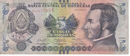 BILLETE DE HONDURAS DE 5 LEMPIRAS AÑO 2014 (BANKNOTE) - Honduras